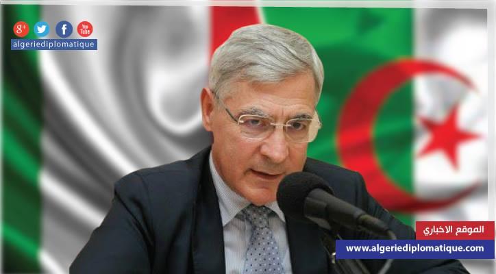 """صورة السفير الإيطالي لـ""""الجزائر ديبلوماتيك"""": الجزائر بلد آمن و""""فيات"""" مصرة على إقامة مصنع بها"""