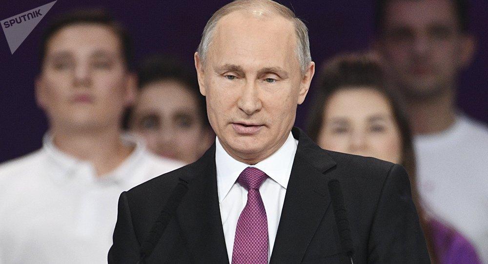 صورة بوتين يعلن عن ترشحه للانتخابات الرئاسية لعام 2018