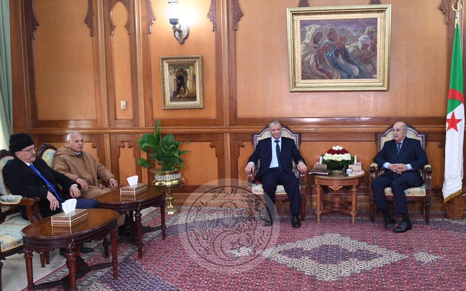صورة الرئيس تبون يستقبل عبد القادر بن قرينة رئيس حركة البناء الوطني