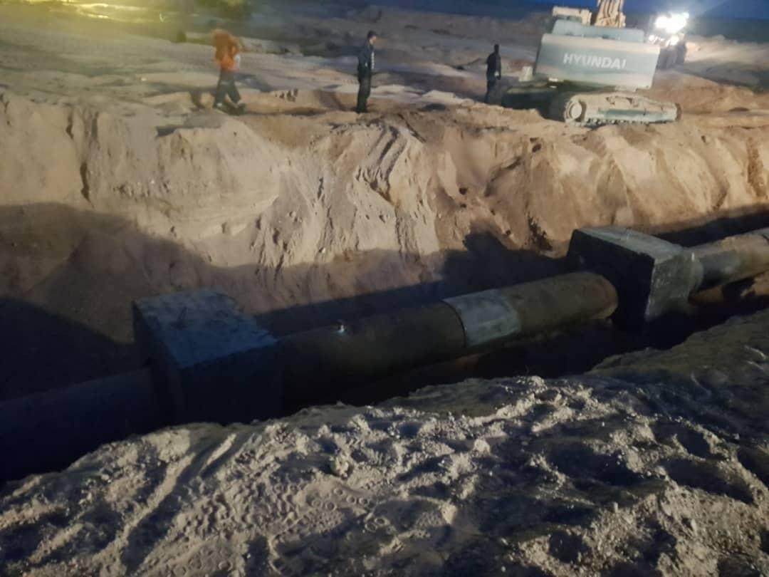 صورة سوناطراك: أشغال تلحيم و صيانة أنبوب النفط المتضرر بولاية الوادي تمّت بنجاح اليوم