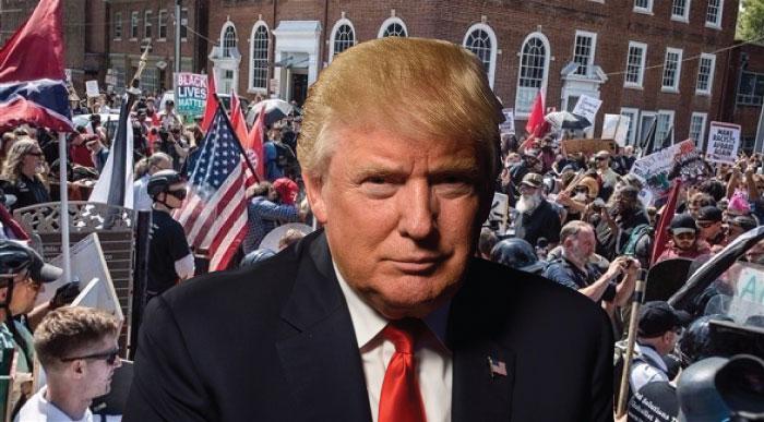 صورة أمريكا في خطر أمام تحالف اليمين المتطرف و الرئيس دونالد ترامب