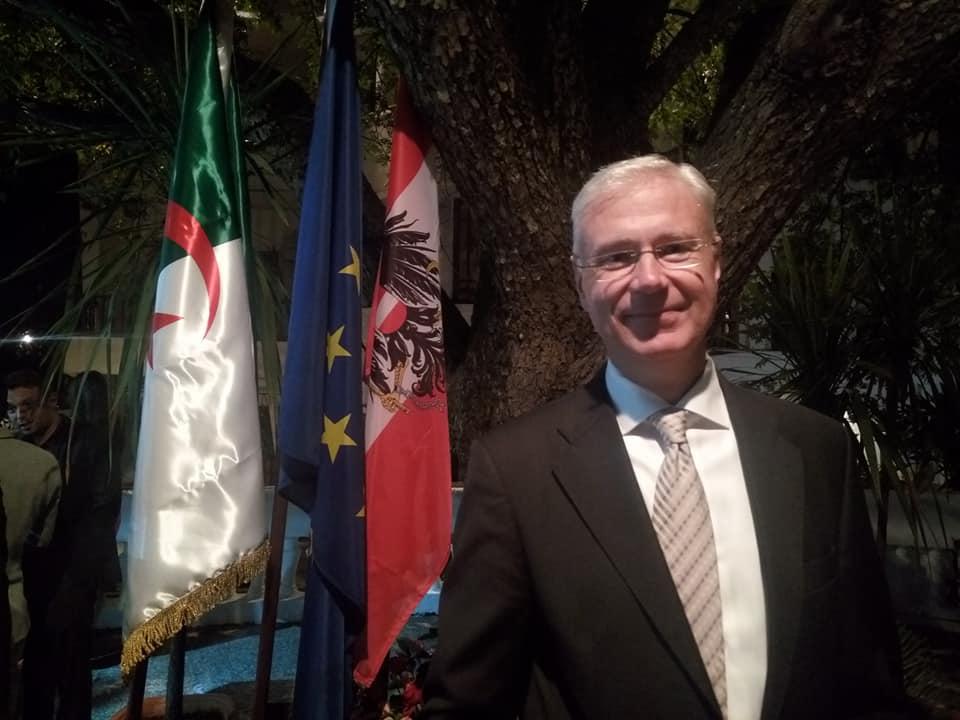"""صورة رسالة السفير النمساوي """"بيتر إلسنر ماكاي"""" بمناسبة اليوم الوطني لجمهورية النمسا"""