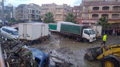 صورة فيضانات في جيجل.. انهيار جسر في وادي قنطرة وجرف المركبات