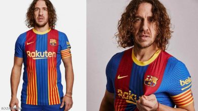 """صورة """"الصخرة"""" يقدم قميص برشلونة الخاص بـ """"الكلاسيكو"""""""