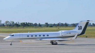 صورة رئيس دولة يستأجر طائرة ميسي الخاصة