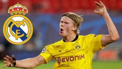 """صورة ريال مدريد يخصص مبلغا ضخما لضم """"الفتى الذهبي"""" هالاند"""