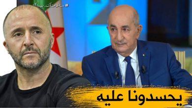 صورة رئيس الجمهورية السيد عبد المجيد تبون يستقبل جمال بلماضي