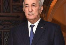 صورة رئيس الجمهورية السيد عبد المجيد تبون ينشر تغريدة على حسابه في تويتر