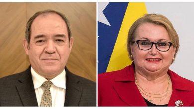 صورة بوقدوم يتطرق مع وزيرة خارجية البوسنة والهرسك إلى آفاق تعزيز التعاون الثنائي بين البلدين