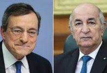 صورة رئيس الجمهورية السيد عبد المجيد تبون يتلقى مكالمة هاتفية من رئيس مجلس الوزراء الإيطالي