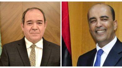 صورة وزير الشؤون الخارجية صبري بوقدوم يُجري مكالمة هاتفية مع نائب رئيس المجلس الرئاسي لدولة ليبيا موسى الكوني