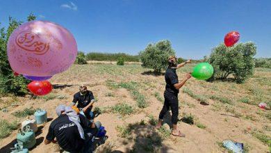 صورة اندلاع حرائق جديدة في غلاف غزة بسبب دفعات من البالونات الحارقة