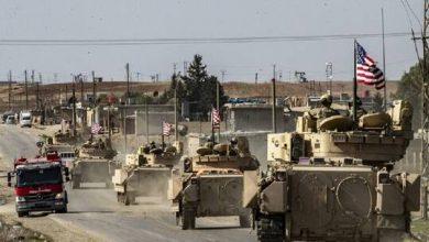 صورة آليات أمريكية بمعدات عسكرية تدخل من العراق إلى مدينة رميلان شمال سوريا
