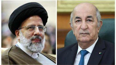 صورة رئيس الجمهورية يهنئ السيد إبراهيم رئيسي على انتخابه رئيسا لإيران