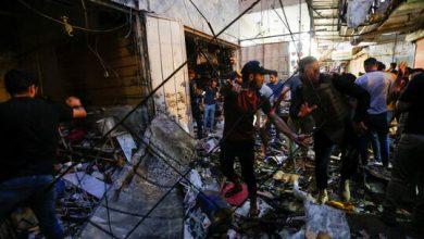 """صورة تنظيم """"داعش"""" يعلن مسؤوليته عن الهجوم الانتحاري في مدينة الصدر ببغداد"""