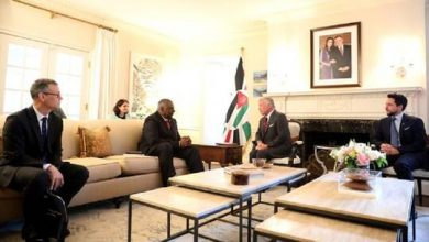 صورة ملك الأردن يلتقي وزير الدفاع الأمريكي في واشنطن