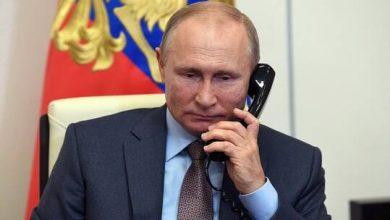 صورة بوتين يؤكد لأردوغان مواصلة المساعدة الروسية في إخماد حرائق تركيا