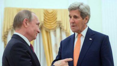 صورة الكرملين: بوتين وكيري يؤكدان على وجود مواقف متقاربة لدى موسكو وواشنطن حول المناخ