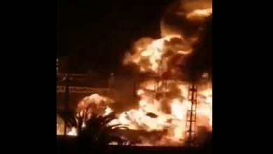صورة الجزائر.. حريق ضخم بمحطة توليد كهرباء في مدينة عين الدفلى