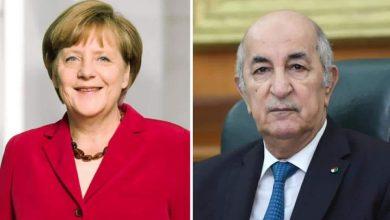 صورة رئيس الجمهورية السيد عبد المجيد تبون يُعزّي المستشارة الألمانية أنجيلا ميركل
