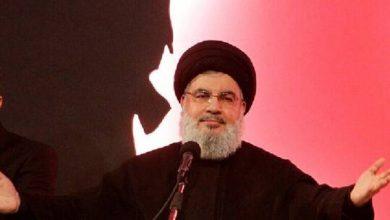 """صورة نصر الله: اتفقنا على سفينة محروقات إيرانية ثالثة إلى لبنان.. و""""حبل الكذب قصير"""""""