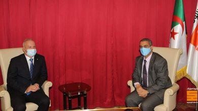 صورة سوناطراك: توفيق حكار يستقبل الرئيس التنفيذي لشركة اكينور Equinor النرويجية السيد أندرس أوبيدال