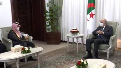 صورة رئيس الجمهورية يستقبل  وزير الخارجية السعودي  الأمير فيصل بن فرحان