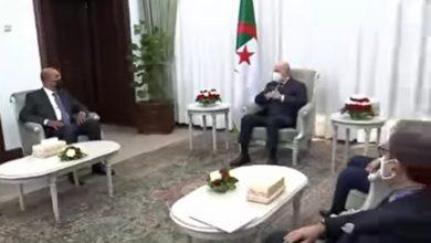 صورة رئيس الجمهورية يستقبل نائب رئيس المجلس الرئاسي الليبي السيد موسى الكوني